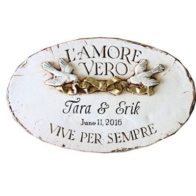 italian wall plaque gift for weddings