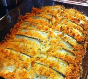 Italian Baked Zucchini Slices with Rosemary Recipe