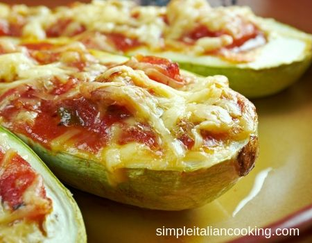 baked zucchini pizzas recipe