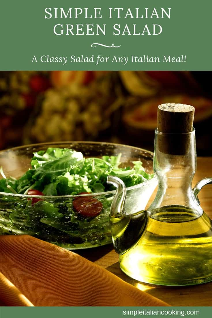 Simple Italian Green Salad with Olive Oil