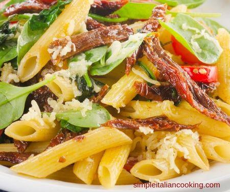 pasta sundried tomatoes kalamata salad recipe