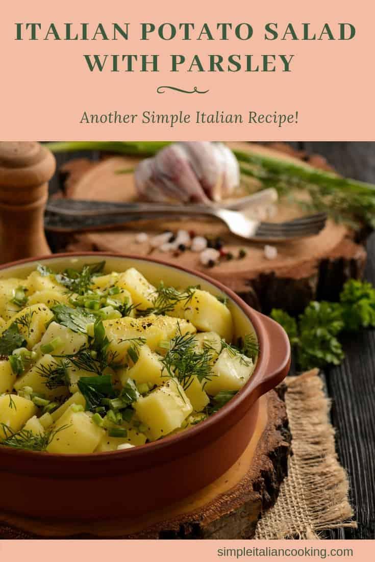 Easy Italian Potato Salad!   Ditch the mayo and try this as an alternative!  | italian potato salad recipe | potato salad recipe | potato salad | easy potato salad |