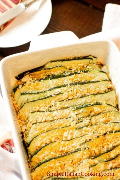 Italian Recipe for baked zucchini slices