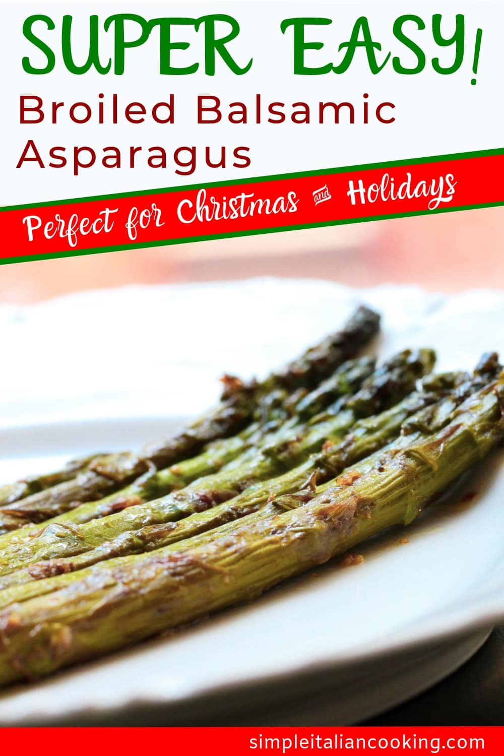 Simple Italian Recipe for Braised Asparagus with Balsamic Vinegar
