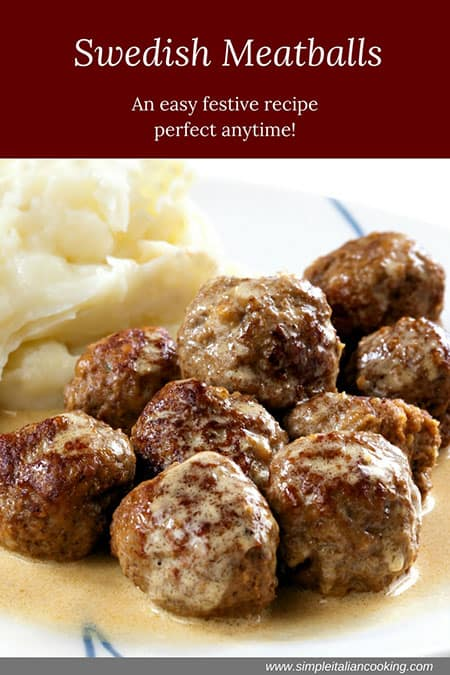 Swedish Meatballs Recipe inspired from 1955 cookbook