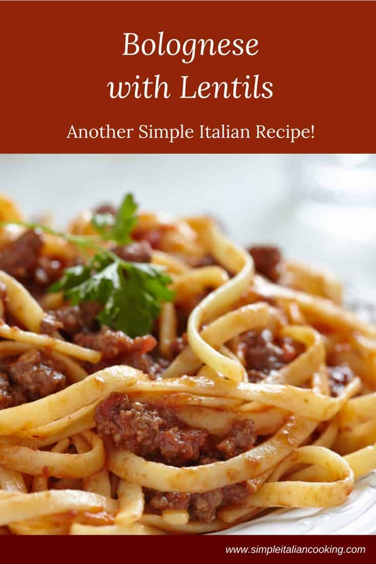 Easy Bolognese with Lentils Recipe