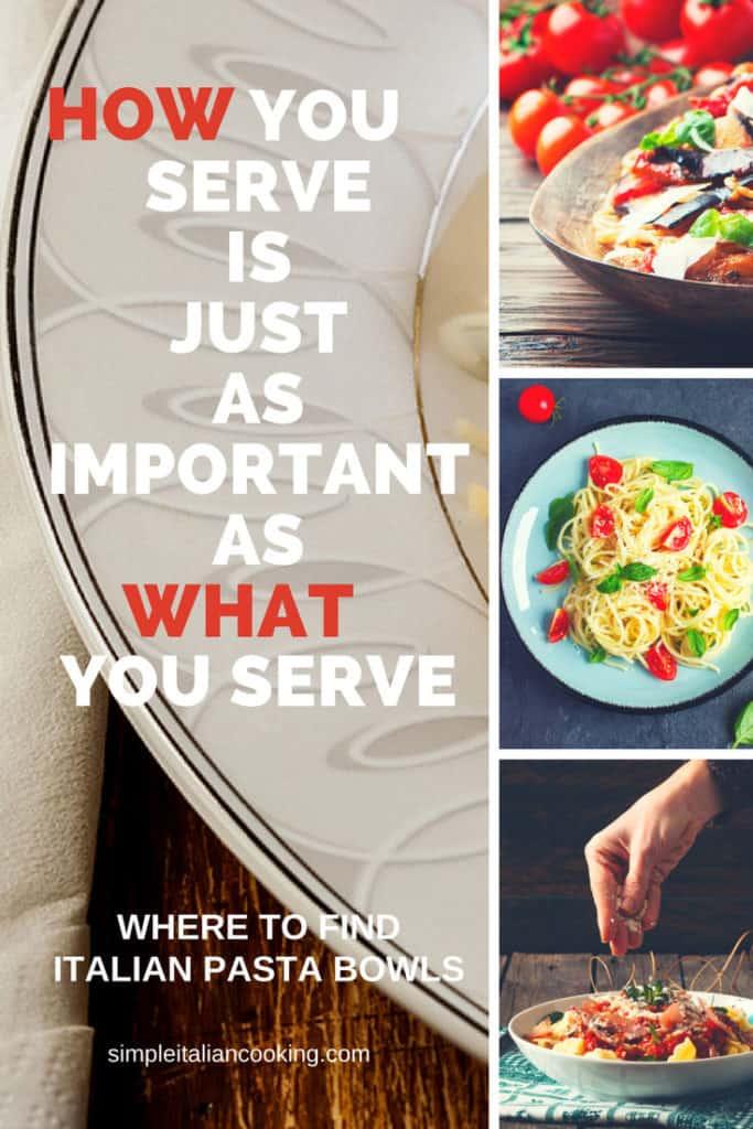 Italian Pasta Bowls for Dinnerware
