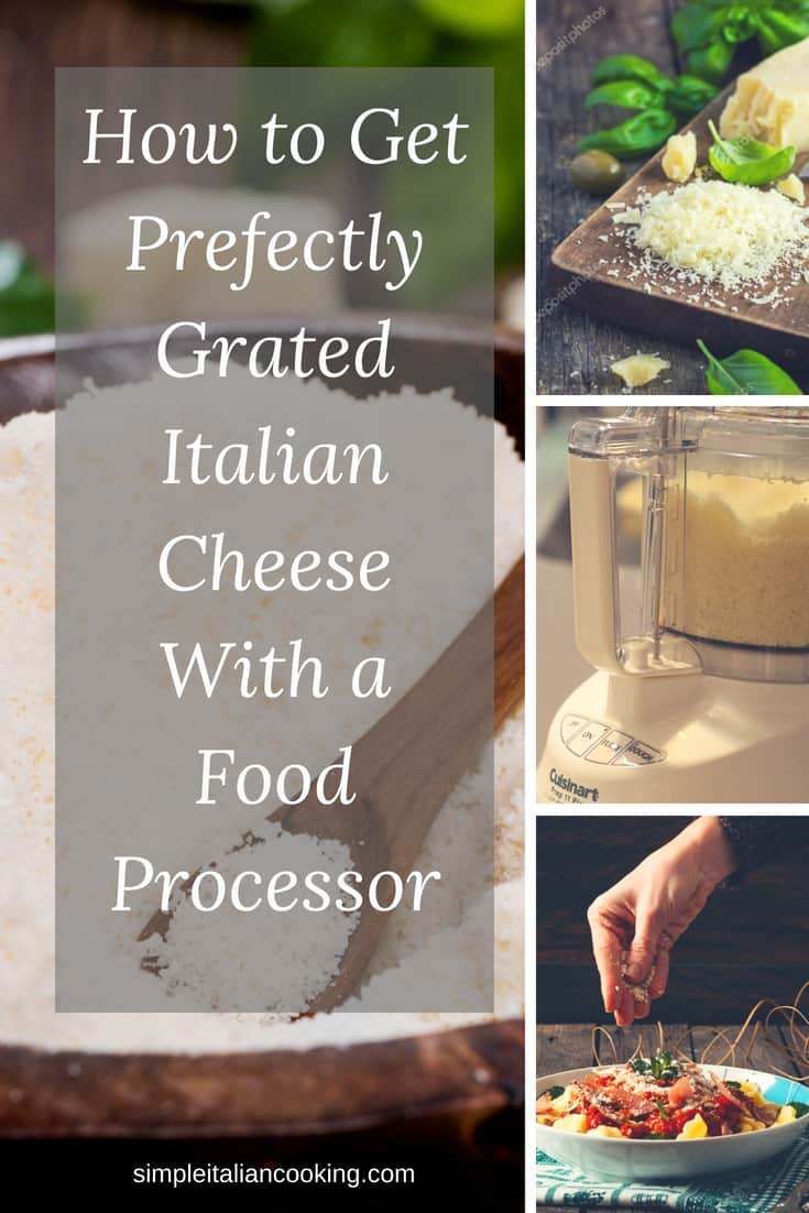 How to get the best finely grated Italian cheese using a Cuisinart grater disc!  Grind the cheese in just seconds!   #cuisinartdisc #italiangratedcheese #romanogratedcheese #mealplanningtips