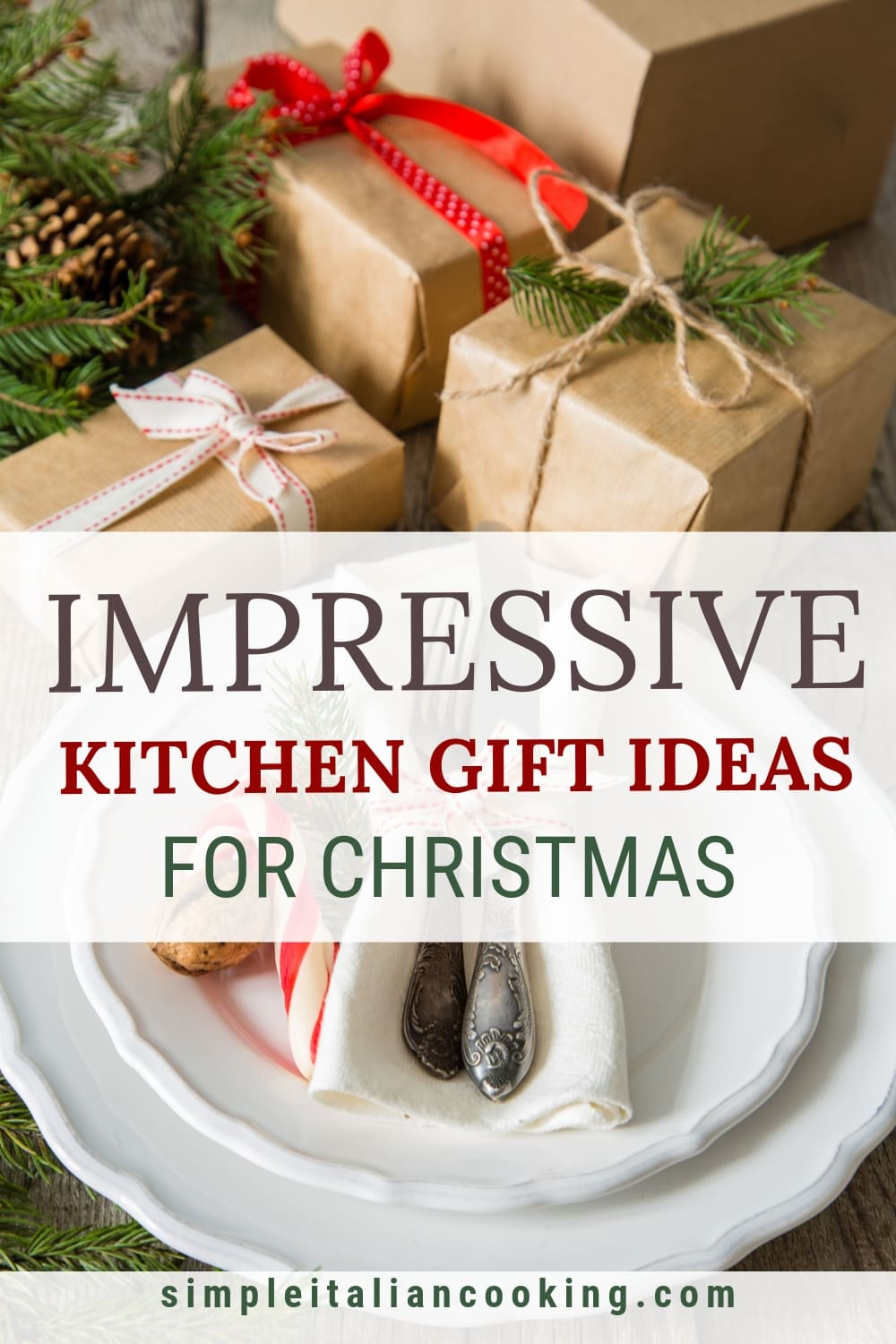 Here are 25 Kitchen Gift Ideas for Christmas!  Be Inspired with this wide range of ideas for the cook in the family! Perfect for mom, dad, or friends.  Kitchen gadgets, coffee, food, and ideas for healthy eating (I love my spiralizer!)  #kitchengiftideas #italianchristmasfoodgifts #healthygiftideas #christmaskitchengifts
