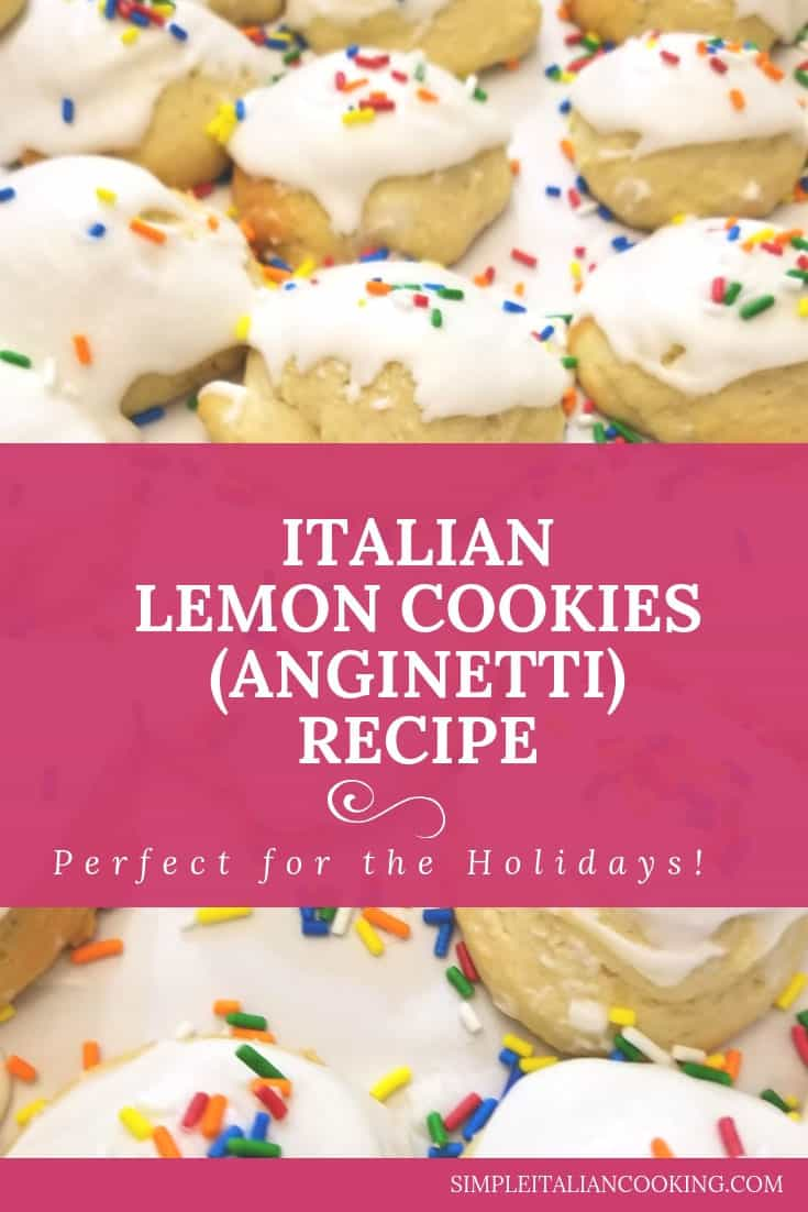 Italian Lemon Cookies Anginetti