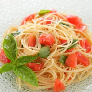 fresh tomatoes and basil
