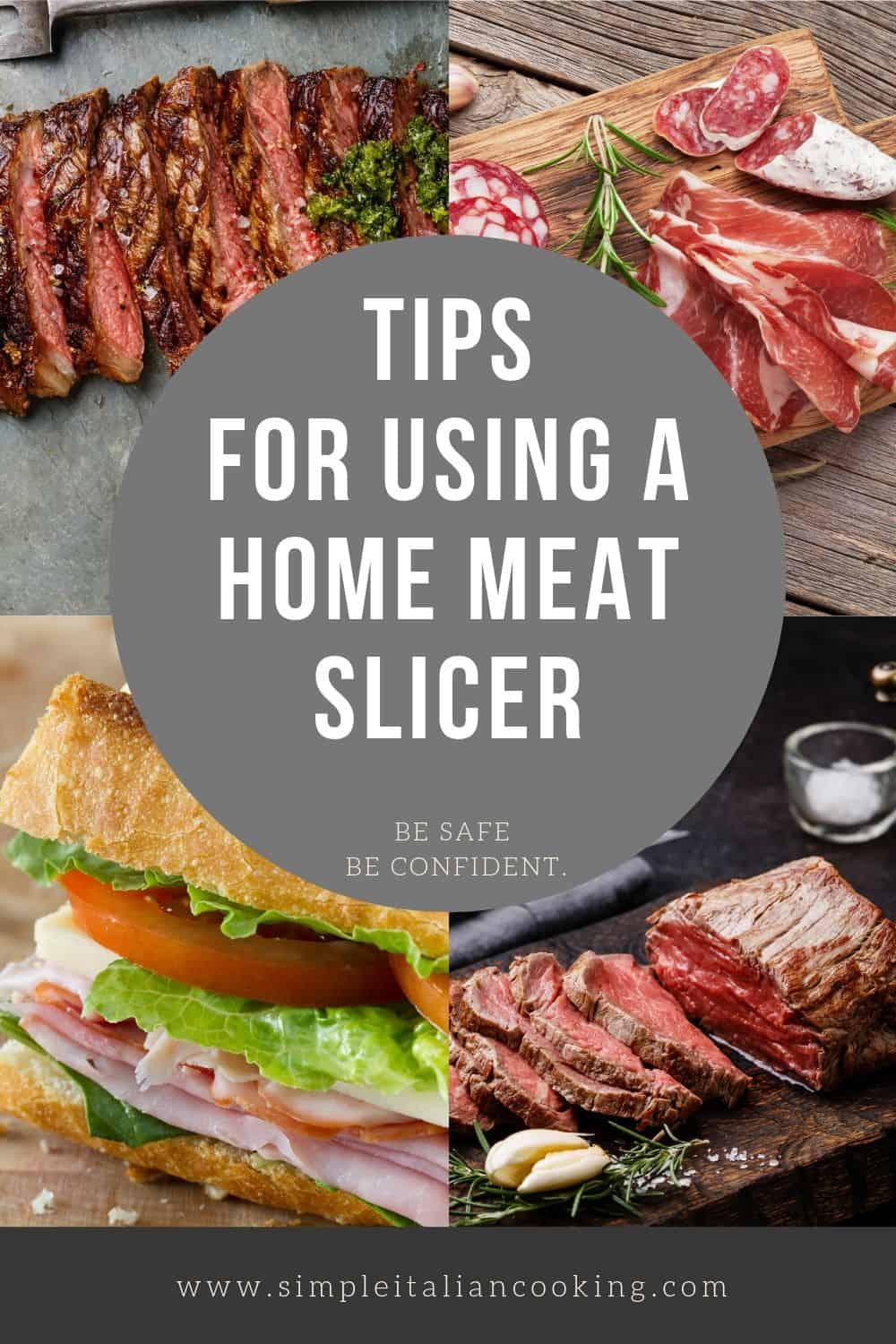 These are the must-know tips for how to use a home meat slicer to maximize your investment in your kitchen food equipment.  Make wonderful dishes at home with the help of a slicer.  #meatslicer #foodslicer #homefoodslicer #homemeatslicer #foodslicertips #meatslicertips