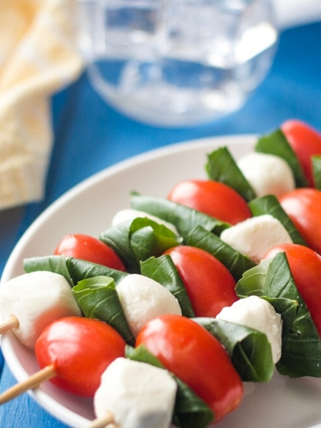 caprese salad skewers  italian salad recipe