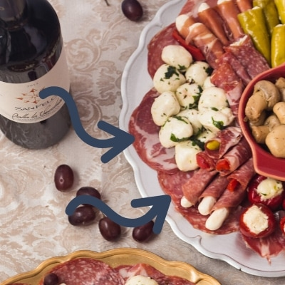 salami border on the antipasto platter
