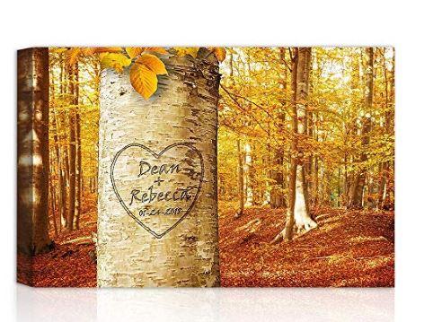 engraved bark canvas wrap