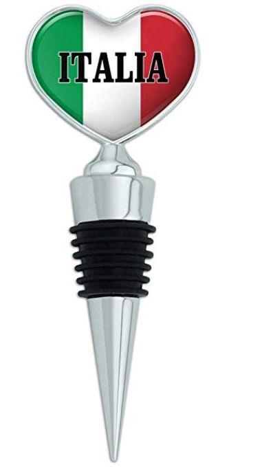 Italian heart wine stopper