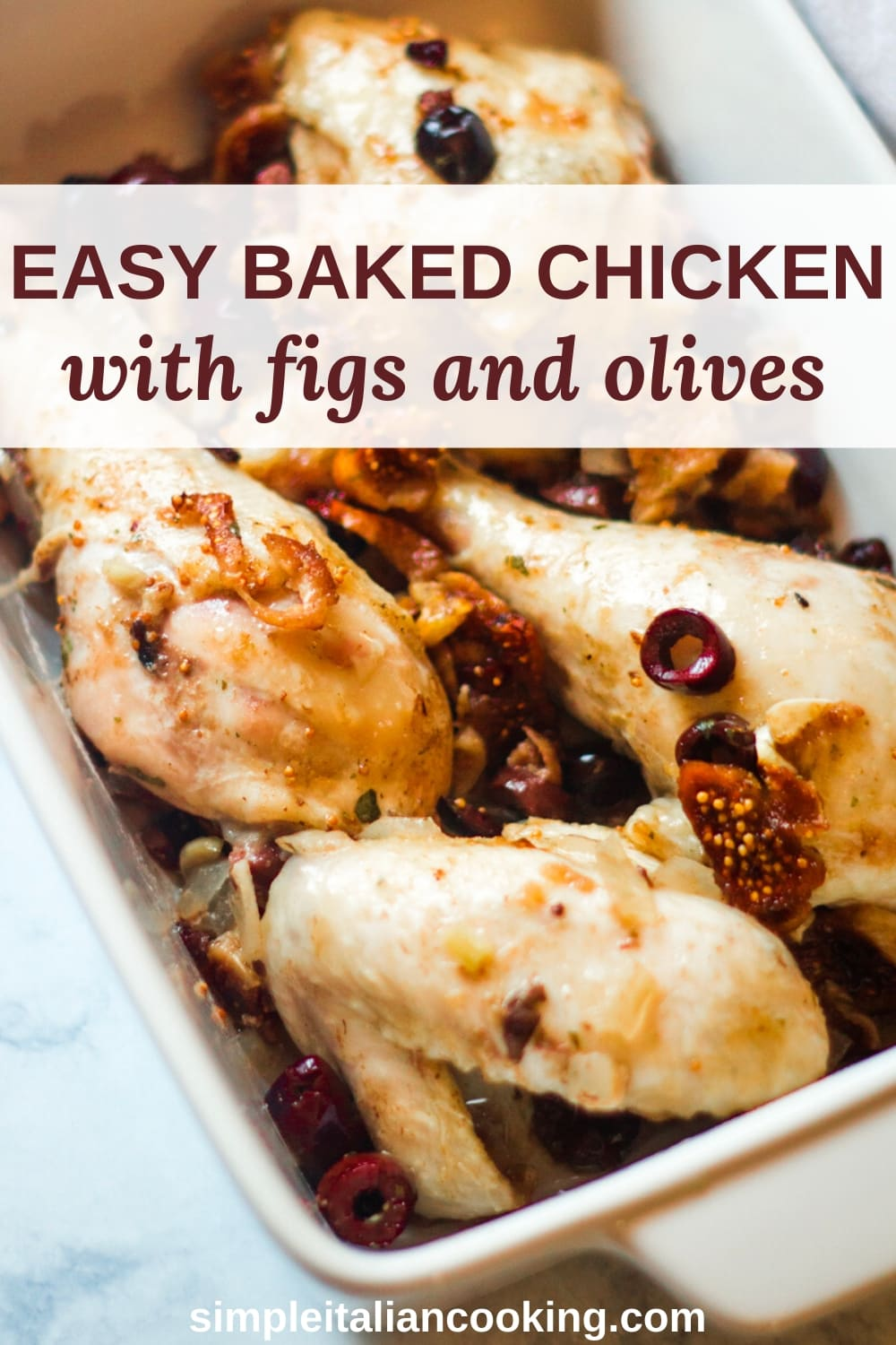 baked chicken with figs and olives recipe