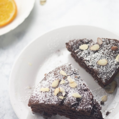 orange chocolate almond cake
